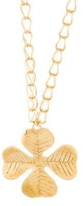 Aurelie Bidermann Clover Pendant Necklace
