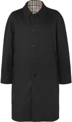Burberry Reversible Checked Wool and Gabardine Coat