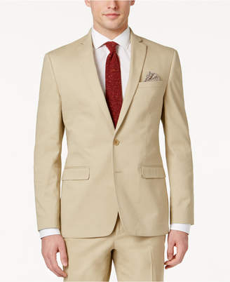Bar III Men's Slim-Fit Tan Stretch Jacket, Created for Macy's