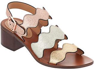 Marc Fisher Block Heel Back Strap Sandals- Omalla