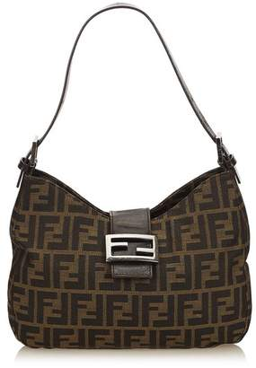 Fendi Vintage Zucca Canvas Shoulder Bag