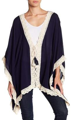 HYFVE Lace Trimmed Open Front Tunic