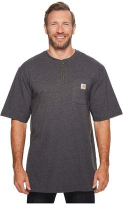 Carhartt Big Tall Workwear Pocket S/S Henley Men's Short Sleeve Pullover
