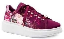 Ted Baker Ailbet Floral Satin Platform Sneakers