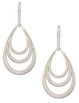 Adriana Orsini Pavé 18K Gold-Plated Lobe Drop Earrings - Yelllow Gold