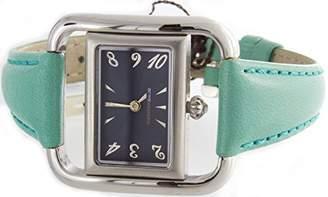 BCBGMAXAZRIA Women's BG6002 Black Dial Green Leather Band Quartz Watch