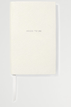 Smythson Panama Bride To Be Textured-leather Notebook