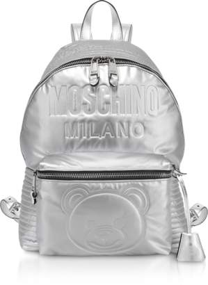 Moschino Teddy Bear Metallic Eco-Leather Backpack