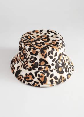 And other stories Leopard Print Bucket Hat 6de328cbb1b