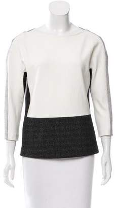 Narciso Rodriguez Contrast Knit Top w/ Tags