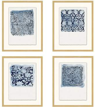 Pottery Barn Textile Stamp Framed Prints