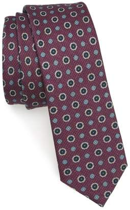 The Tie Bar Floral Medallion Wool Tie