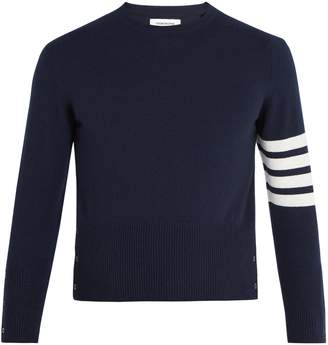 Thom Browne Striped-sleeve cashmere sweater