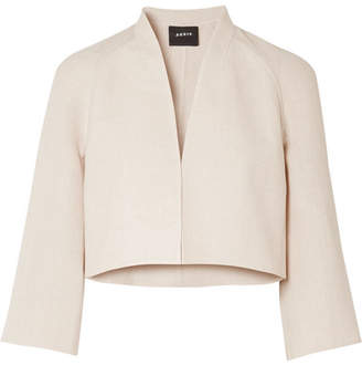 Akris Romain Linen And Wool-blend Jacket - Beige