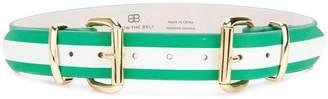 B-Low the Belt striped buckle belt
