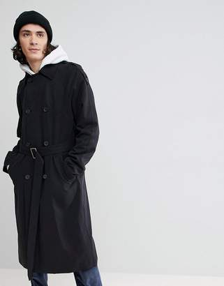 Asos DESIGN oversized trench coat in black