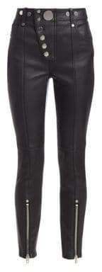 Alexander Wang Hybrid Leather& Denim Leggings