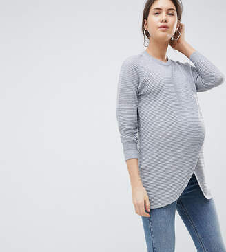 Asos (エイソス) - ASOS Maternity - Nursing ASOS DESIGN Maternity Nursing wrap sweater in ripple stitch