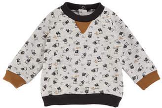 Petit Bateau Baby Boy Owl Long-Sleeve Sweatshirt, Size 3-36 Months