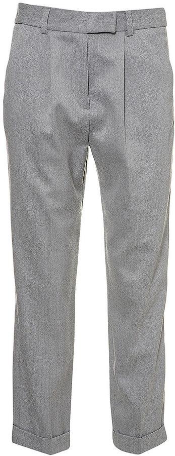 Flannel Carrot Leg Trouser