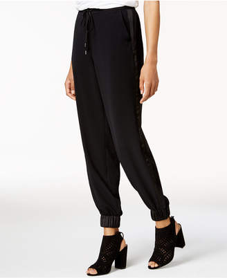 Bar III Contrast-Trim Jogger Pants, Created for Macy's