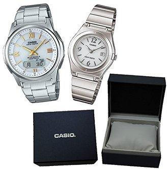 【カシオソーラー電波時計ペア箱入りセット】 CASIO(カシオ) 腕時計 WVA-M630D-7A2JF メンズ ・LWQ-10DJ-7A1JF レディース ・カシオ専用ペア箱セット