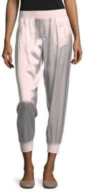 ATM Anthony Thomas Melillo Striped Silk Pants