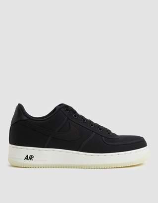 Nike Force 1 Low Retro Canvas Sneaker in Black