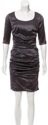 Dolce & Gabbana Satin Ruched Dress