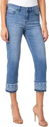 Liverpool Sadie Eyelet Cuff Crop Jeans