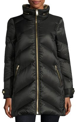 Burberry Chevron Quilted Down Puffer Coat $995 thestylecure.com