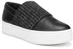 Vince Weadon Leather Knit Platform Sneakers