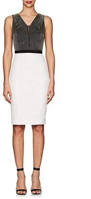 Narciso Rodriguez Women's Colorblocked Silk Crepe Sheath Dress