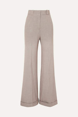See by Chloe Checked Tweed Wide-leg Pants - Gray