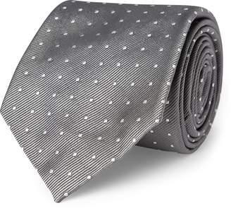 Ralph Lauren Polka-Dot Silk Repp Narrow Tie