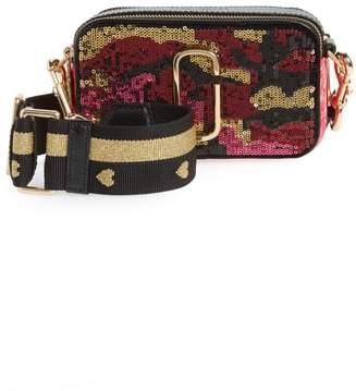 Marc Jacobs Snapshot Camo Sequin Embellished Crossbody Bag