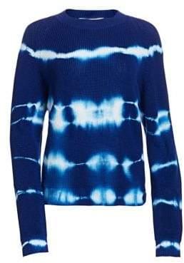 MSGM Women's Crewneck Tie-Dye Knitted Sweater - Blue - Size XS
