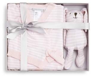 Elegant Baby Girls' Bodysuit, Hat & Bunny Gift Set, Baby - 100% Exclusive