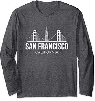 S+F San Francisco SF Bay Area California Skyline Long Sleeve