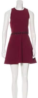 Elizabeth and James Lace-Up Mini Dress