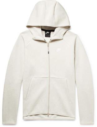80937b40f427 Nike Sportswear Mélange Cotton-Blend Tech Fleece Zip-Up Hoodie