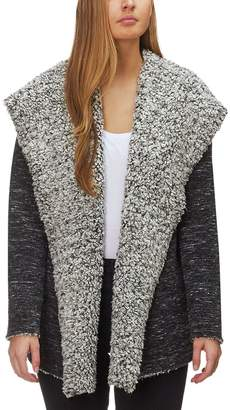 Dylan Slub Bonded Frosty Tipped Pile Hooded Jacket - Women's