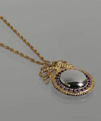 Rachel Leigh plum 'Valentina's Looking Glass' pendant necklace