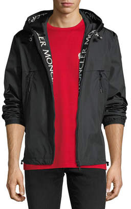 Moncler Nylon Jacket w/ Logo Lining Trim
