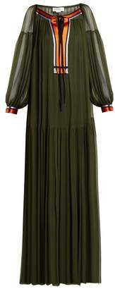 Amanda Wakeley Gathered silk crepe de Chine maxi dress
