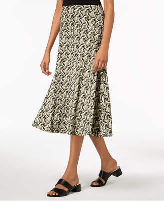 JM Collection Petite Printed Skirt