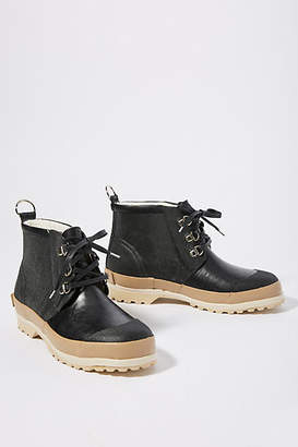 Ilse Jacobsen Lace-Up Short Rubber Boots
