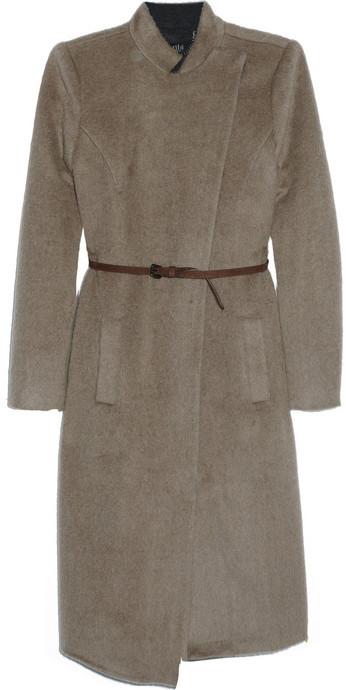 Tibi Belted mohair-blend coat