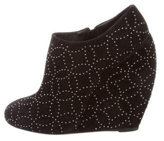 Alaia Studded Wedge Booties