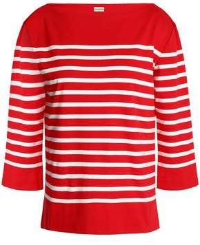 By Malene Birger Striped Cotton-Jersey Top